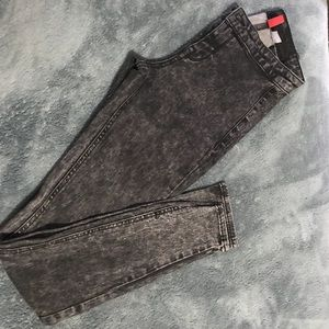 mid wasted acid wash pants, worn once, from H&M